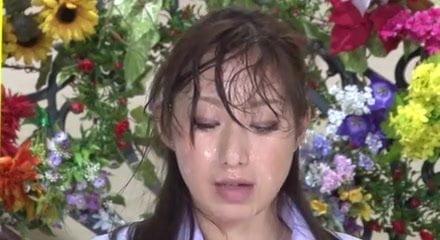 Nishio Kaori & Anzu Yuu in Japanese Bukkake Tv News...