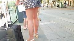 Voyeur sexy ass shorts milf