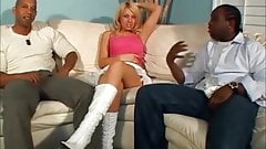 Blonde Holly ruined by big black cock