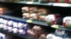 sweet ass in supermarket