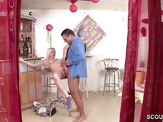 Hidden Cam filmed German Step-dad fuck Daughter when alone