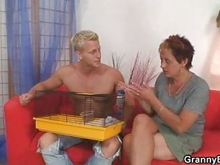 Hot looking guy fucks neighbour granny