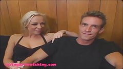 Big Perky titty wife gets banged hard for swingers watching