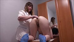 bbw medical examination  with anal fisting
