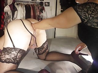 Sissy Pussy Fucked With Lollipop Dildo And Fist