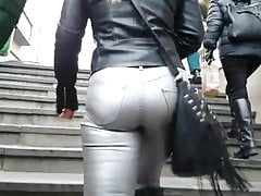 TIGHT SILVER JEANS PAWG