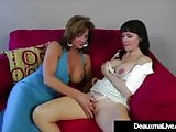 Texas Cougar Deauxma Strap On Fucked By Hot Milf Angie Noir!