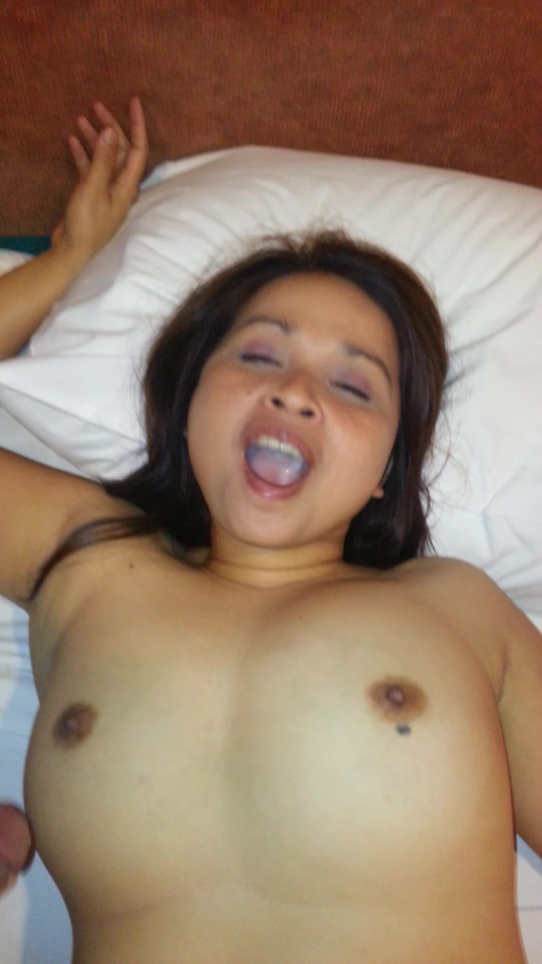 She swallows