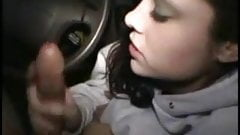 Great blow job in car. Home video