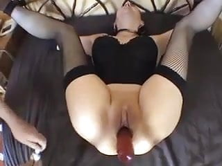 bound amateur in sexy lingerie getting ass fucked