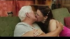 Granny Teaching Young For Lesbian BVR
