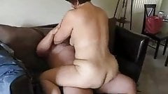 Sexy Mature Woman Riding Out A Nut