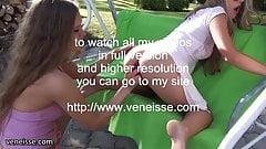 veneisse lesbian outdoor public plug & double fisting