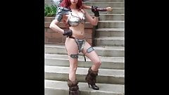 Red Sonja Cosplay Upskirt Thong