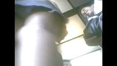 boso student with bf inside elevator
