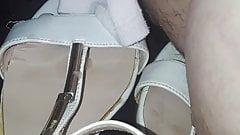 cum on her sandals
