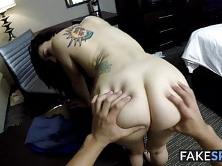 Teen slut filmed in POV while fucking to get a new job