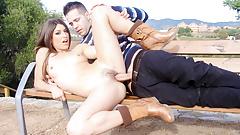 MAMACITAZ - Hot Latina Julia Roca Has Hard Sex In The Park