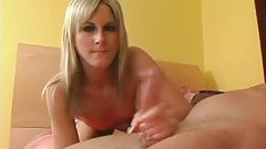 Small Tits Blonde Handjob