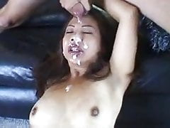 Asian fuck and facial