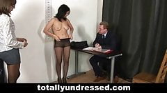 Young secretary's job interview