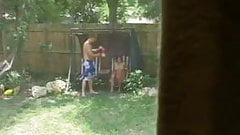 Girlfriend fucked in the garden