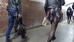 pantyhose upskirt in metro's Thumb