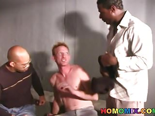 Preview 2 of White guy gets fucked in the prison by blacks