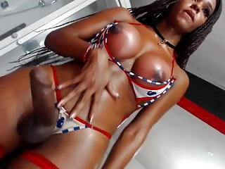 Latina Tgirl With Tanned She Cock