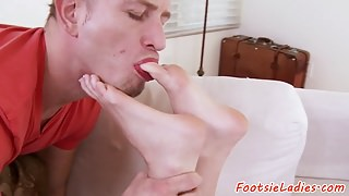 Solelicked euro riding a huge cock
