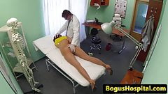 European amateur assfucked by doctor