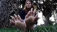 sexy long toe nails