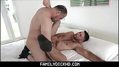 Twink Stepson Helps Bear Stepdad With His Viagra Dick