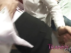 Tranny Art Big cock tranny keeps pantyhoes on and gets fucke