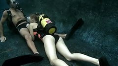 Scuba Blowjob in a Pool's Thumb