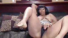 Sexy Ebony Webcam Freak Teasing