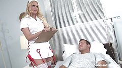 Behind the scenes fun with Nurse Vanessa Cage's Thumb