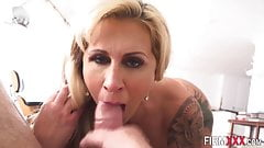 Anally riding milf sucks