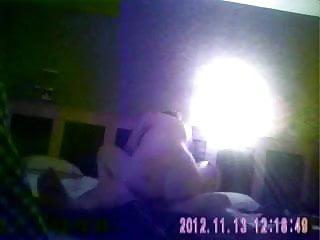 Sexy blonde prostitute caught on hidden cam