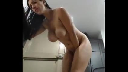 Busty Milf with Big Ass and Tits Cumming on Cam at Work