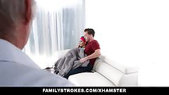 FamilyStrokes - Almost Caught Fucking Her Step-Bro By Dad