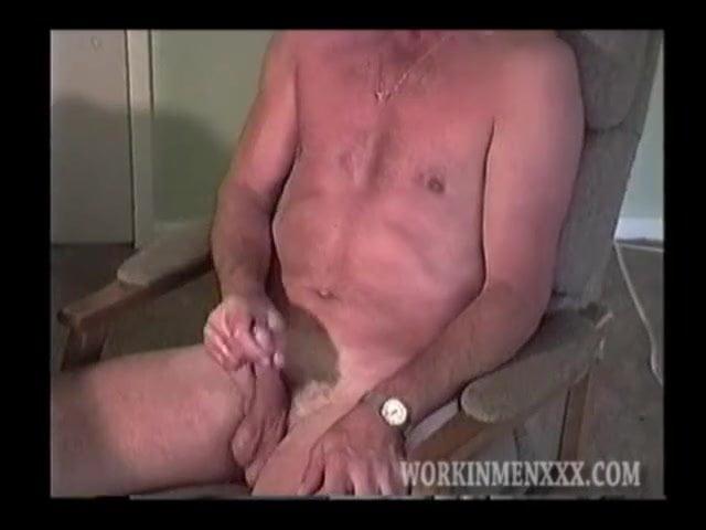 Mature man richard jerks off