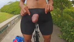Str8 big cock for small hole in bike