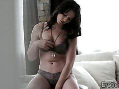 Babe sucks lovers cock