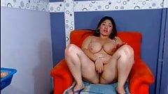 Webcam - Young BBW Latina with big tits teasing