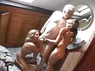 Threesome with Sara Nice & old man