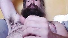 Hot bearded bear cums and tastes