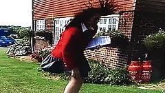 Windy Skirt ProblemIn Front Of Workmen 5