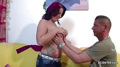 Mommy With Big Tits Seduce to Fuck by not Step-Son