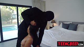 Horny latin teen Gabby Martinez gets her tight pussy banged